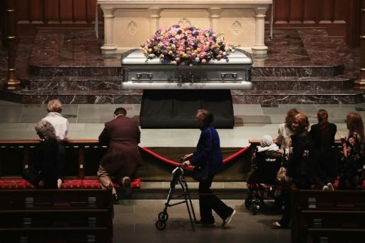 Dernier hommage à Barbara Bush à Houston