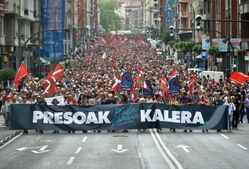 Espagne: manifestation de soutien aux prisonniers de l'ETA à Bilbao