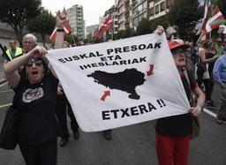 Espagne- manifestation de soutien aux prisonniers de l'ETA à Bilbao