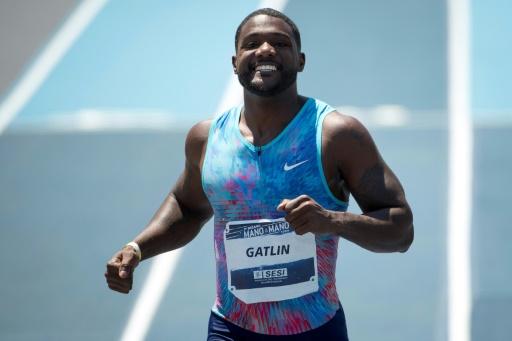 Athlétisme: Gatlin s'impose en 10.05 sur 100 m  pour sa rentrée