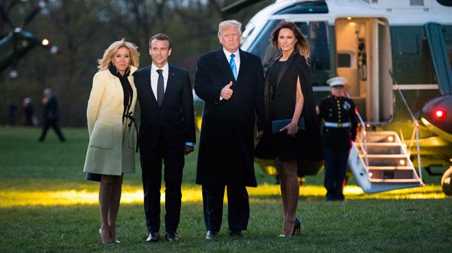 Le dîner GLAMOUR des Trump et des Macron à Mount Vernon (photos)