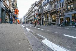 Le vélo est plus rapide en heure de pointe pour rejoindre le centre depuis la périphérie