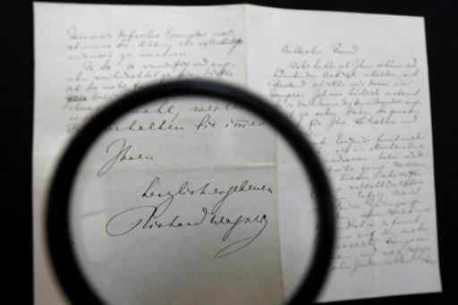 Israël: une lettre antisémite de Wagner vendue aux enchères à 42.000 dollars