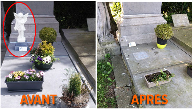 Vincent, choqué en arrivant sur la tombe de sa maman à Tournai: