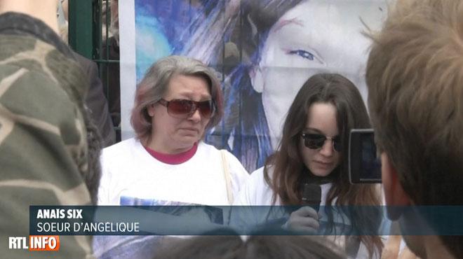Anais, la soeur d'Angélique, violée et tuée par un voisin, s'exprime lors de la marche blanche: