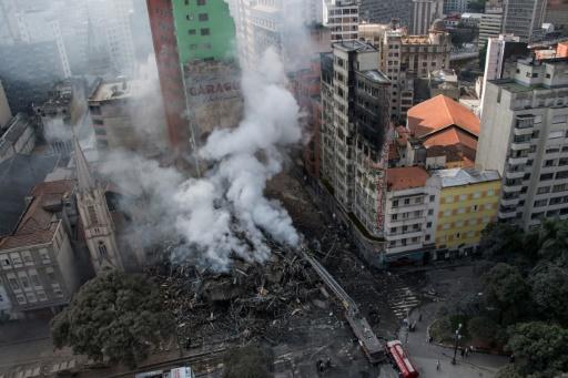 Brésil : 44 disparus après l'effondrement d'une tour à Sao Paulo