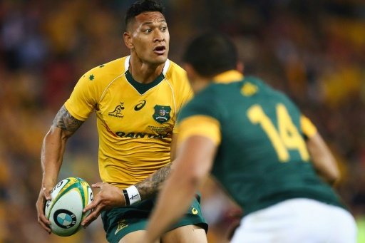 Rugby: la star australienne Folau maintient ses propos homophobes