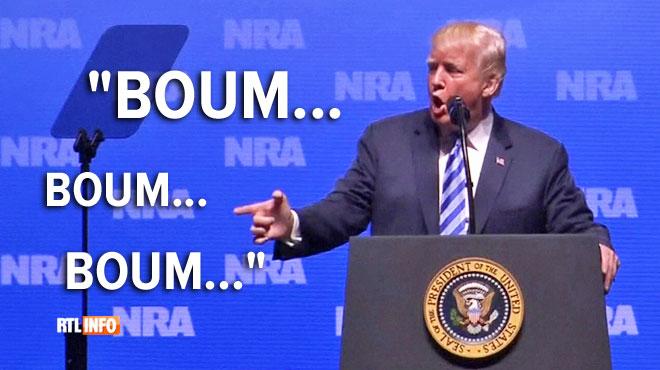 Trump a-t-il été (encore) trop loin? Il tourne en sketch l'attentat du Bataclan pour défendre le port d'arme