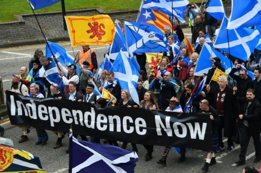 Plus de 30.000 manifestants à Glasgow pour l'indépendance de l'Ecosse
