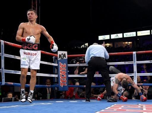 Boxe: Golovkin balaye Martyrosian et donne rendez-vous à Alvarez