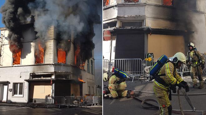 Une friterie a pris feu deux fois à Châtelet, entre 3h et 9h... (photos)