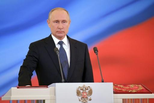 Poutine a prêté serment en tant que président