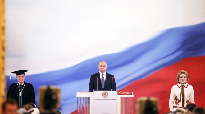 Poutine a été investi président de la Russie dans le faste (photos)