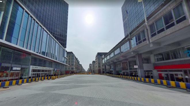 Des pavés du piétonnier de Bruxelles ont été placés dans le mauvais sens