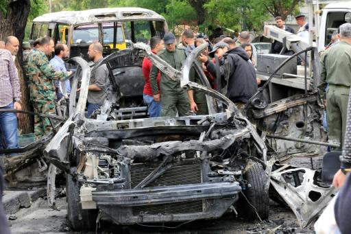 Quatre morts et des blessés dans des tirs de roquettes à Damas