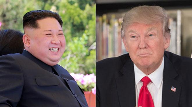Kim Jong Un fait un geste de