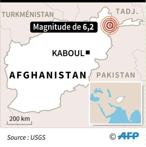 Séisme de magnitude 6,2 en Afghanistan, peu de dégâts signalés