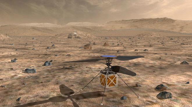 La Nasa prévoit d'envoyer un mini-hélicoptère sur Mars,