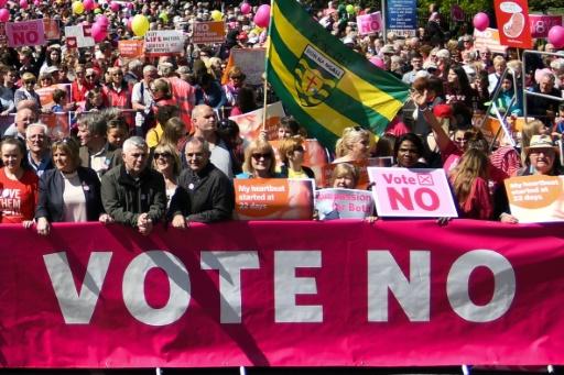 Manifestation anti-avortement à Dublin, à deux semaines du référendum irlandais