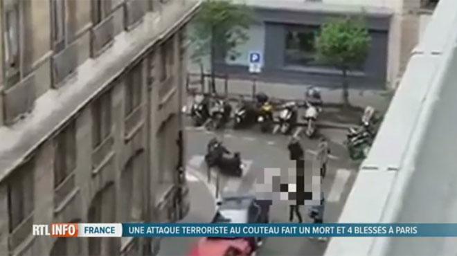 Un homme poignarde des passants à Paris avant d'être tué: un mort et 4 blessés, l'assaillant était fiché pour radicalisation