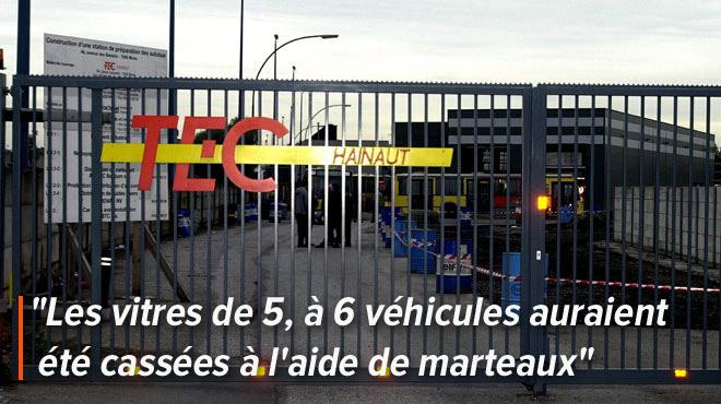 Des individus s'introduisent dans un dépôt TEC à Mons et cassent les vitres de plusieurs bus