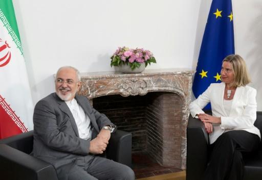 Nucléaire iranien: premier entretien Mogherini-Zarif à Bruxelles