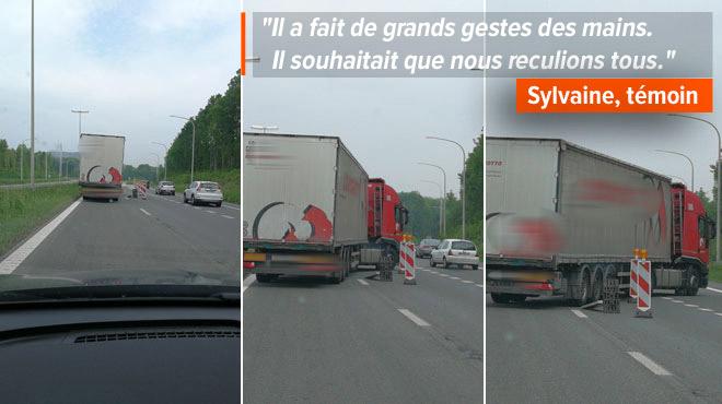 Dangereuse manœuvre sur le Ring de Mons: un chauffeur de poids-lourd fait marche arrière et traverse un chantier