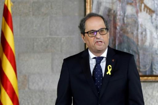Le nouveau président catalan entre en fonctions, premier choc avec Madrid