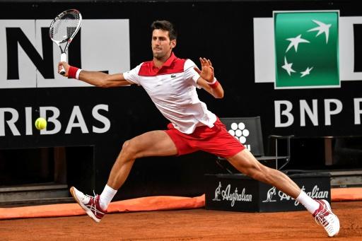 Tennis: Djokovic en quarts de finale à Rome