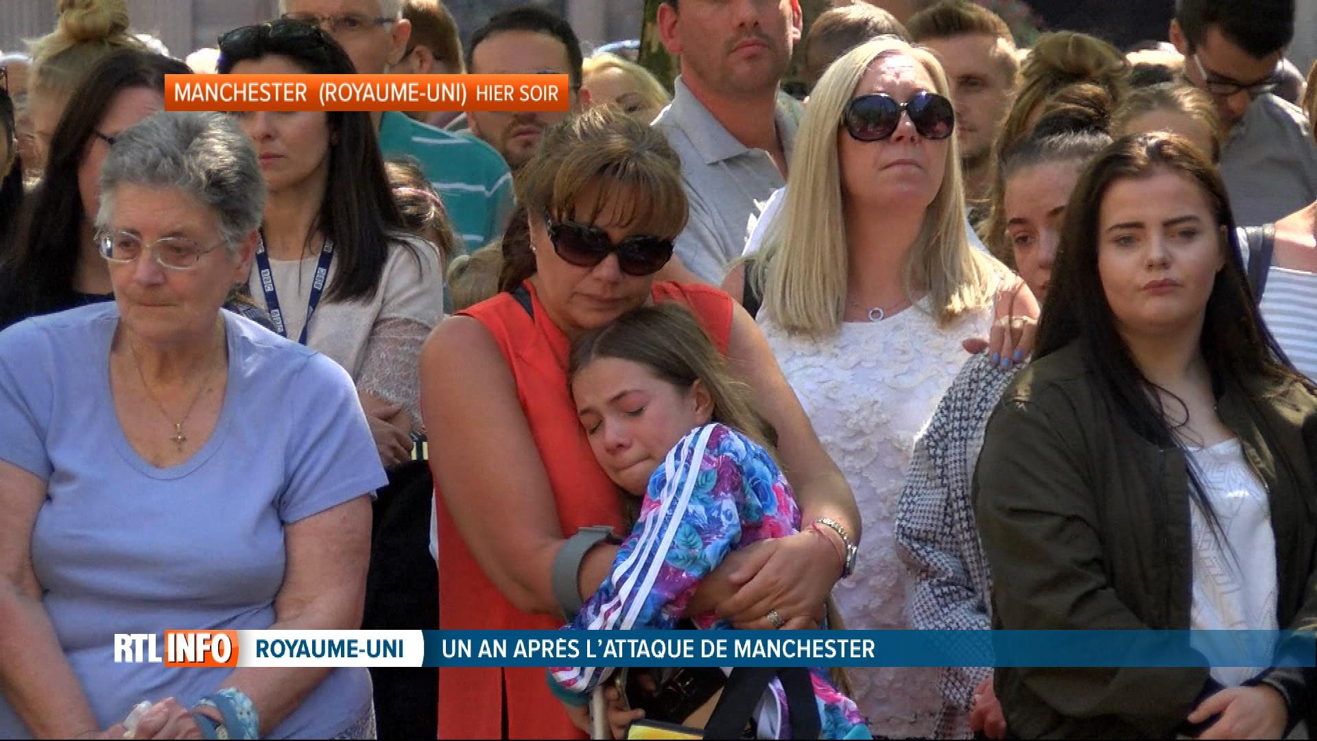 Cérémonie d'hommage, un an après l'attentat de Manchester: