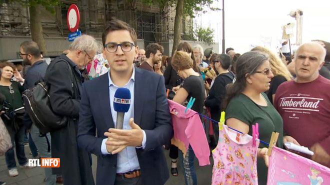 La mort de la petite Mawda a ému beaucoup de monde- notre journaliste en direct du rassemblement qui se tient en ce moment à Bruxelles 1