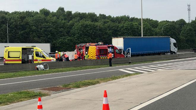 Un grave accident a eu lieu dans les travaux de la E42, vers Namur: