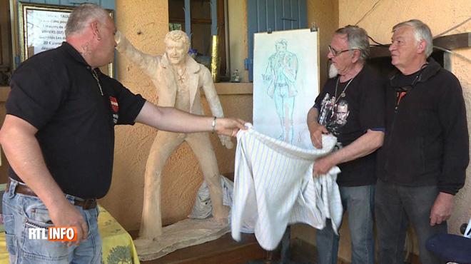 Un statue de Johnny Hallyday, de 3 mètres de haut, est en cours de fabrication: