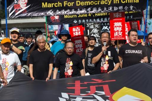 Hong Kong: marche avant la commémoration du massacre de Tiananmen