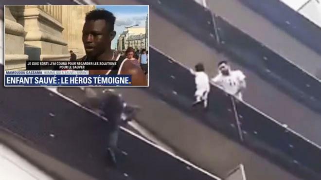 Entre acte héroïque et récup' politique — Mamoudou Gassama