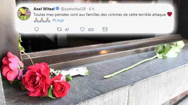 Attentat à Liège: le monde du sport envoie ses condoléances aux victimes sur Twitter