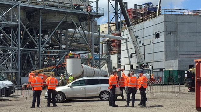 Opération de l'auditorat du travail en cours à l'incinérateur de Pont-de-Loup: