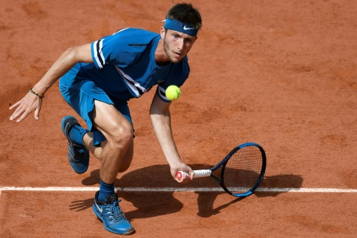 Roland-Garros: Moutet craque contre Goffin
