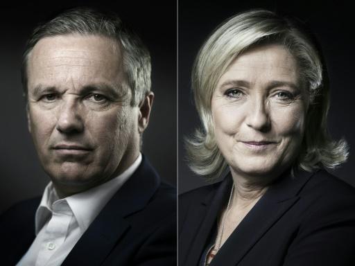 Européennes: Marine Le Pen propose une liste commune à Dupont-Aignan