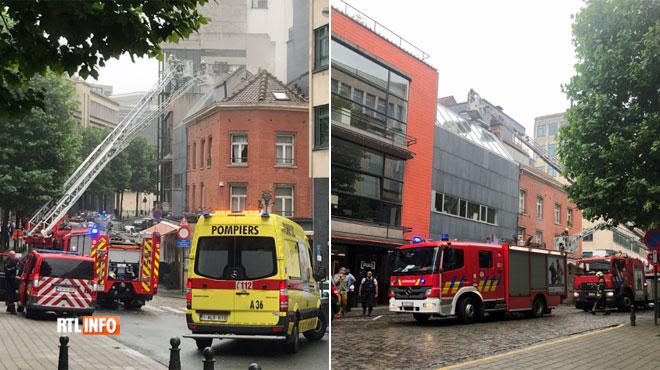 Un incendie se déclare dans un restaurant au coeur de Bruxelles: aucun blessé