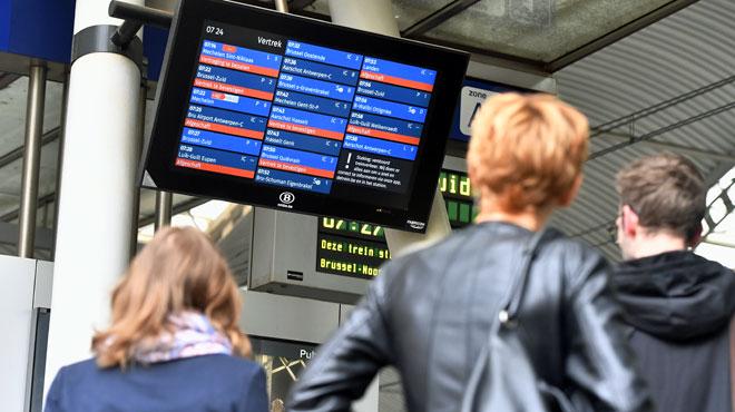 La circulation des trains est perturbée suite aux intempéries: en province de Liège, certaines lignes sont interrompues