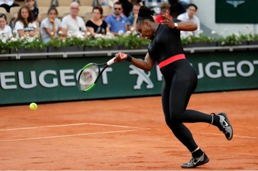 Roland-Garros: c'est fini pour Serena Williams en double