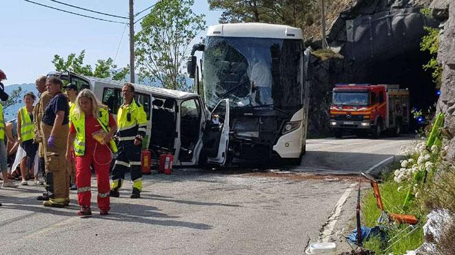 Six Belges impliqués dans un grave accident en Norvège: 3 d'entre eux ont été héliportés à l'hôpital dans un état critique
