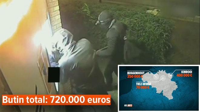 Trois attaques de distributeurs similaires en trois semaines en Flandre: ils font exploser les machines