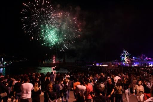 Premier feu d'artifice à Nice depuis l'attentat: