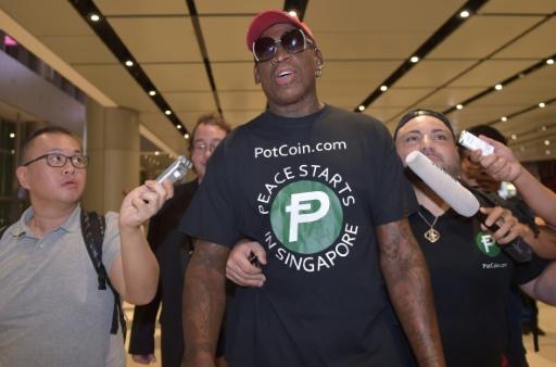 Le basketteur Rodman à Singapour en commentateur du sommet Kim-Trump