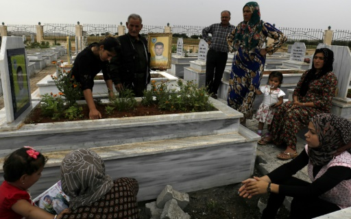 Le cimetière de Kobané en Syrie, symbole des victoires kurdes contre l'EI