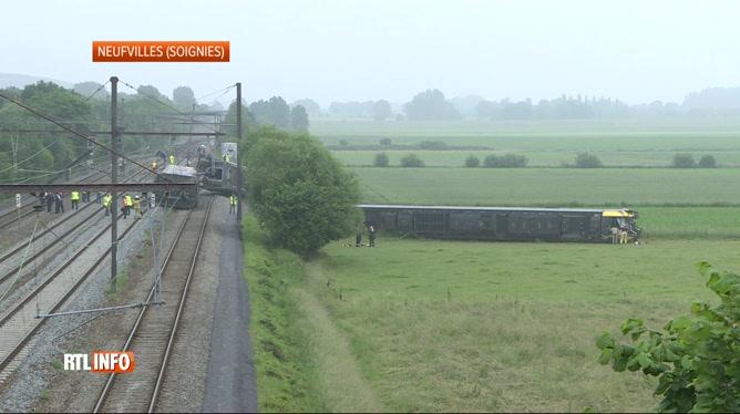 Déraillement de train à Neufvilles: pas de reprise normale du trafic avant lundi matin