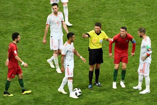 Mondial-2018: Portugal-Espagne, l'arbitre a eu recours à la