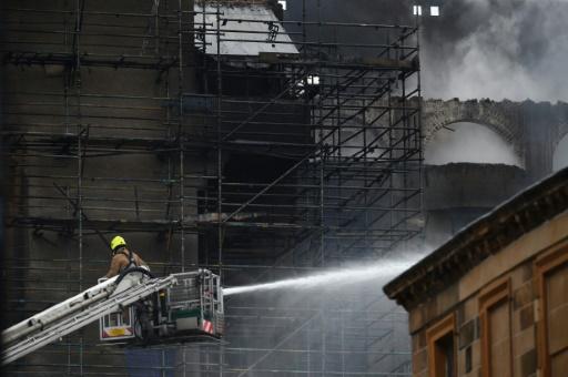GB: une des meilleures écoles d'art du monde en proie à un incendie
